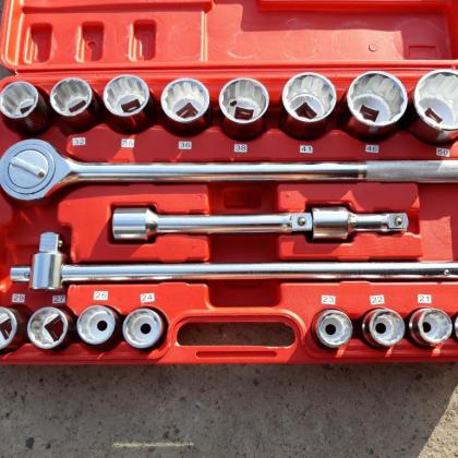 """Головок 3/4"""" MAR-POL 19-50 мм 21 элемент с трещоткой 12 граней"""