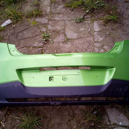Бампер задний зелёный Мазда 2 Mazda 2 2007-2010 D651-50221